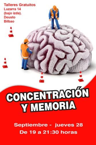 Taller gratuito de CONCENTRACIÓN Y MEMORIA