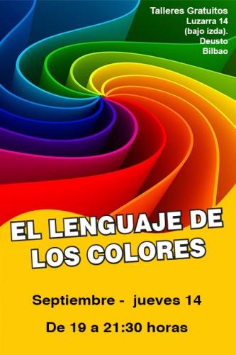 Taller gratuito de EL LENGUAJE DE LOS COLORES