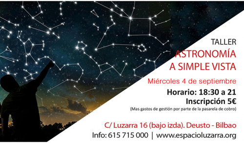 Taller: ASTRONOMÍA A SIMPLE VISTA