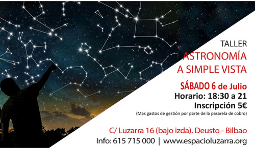 Taller:  ASTRONOMÍA A SIMPLE VISTA